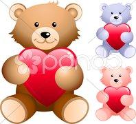 Teddy bear set Stock Illustration