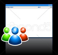 Web Internet Browser with User Grouo Stock Illustration