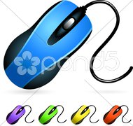 Computer Mouse Set Stock Illustration