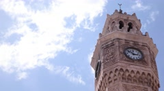 Izmir clock tower time lapse video. Stock Footage