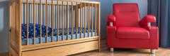 Baby room in blue Stock Photos