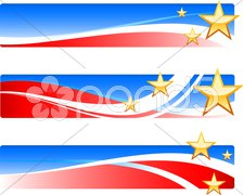Independence Day patriotic banners Stock Illustration
