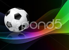 Soccer Ball on Abstract Background Stock Illustration