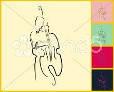 Live Jazz & Blues Stock Illustration