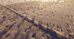 Aerial over vast desert housing tracts reveals endless suburban sprawl. Stock Footage