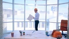 Buisness Team working on construction projects. Man and woman are constructors Stock Footage