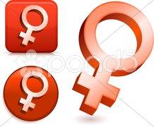 Female Gender Symbols Stock Illustration