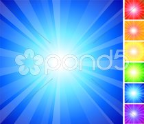 Simple Rainbow glow collection Stock Illustration