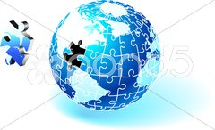 Incomplete Globe Puzzle Stock Illustration