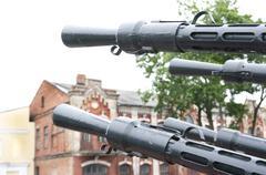 Anti-aircraft gun Stock Photos