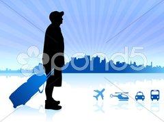 Young traveler Stock Illustration
