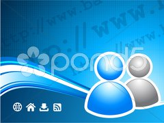 User group on internet background Stock Illustration