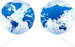 Translucent Glass Globe Stock Illustration