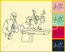 Live Jazz & Blues Stock Illustration