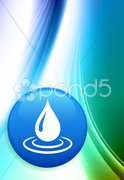 Rain Internet Button on Abstract Color Background Stock Illustration