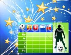 Soccer Player on Abstract Modern Light Background Stock Illustration