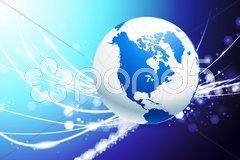 Globe on Abstract Modern Light Background - stock photo