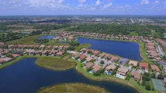 Aerial drone video of homes in Florida Stock Footage