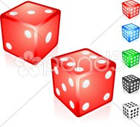 Red Dice Collection Stock Illustration