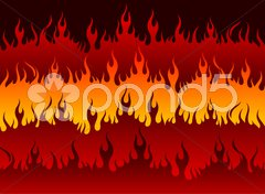 Fire in Hell Stock Illustration