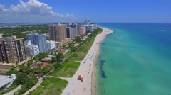 Beachfront condos in Miami Beach Stock Footage