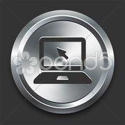 Lpatop Icon on Metal Internet Button Stock Illustration