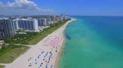 Aerial video of luxury real estate in Miami Beach Stock Footage