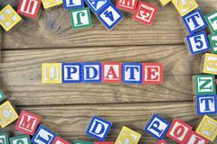 Update word Stock Photos