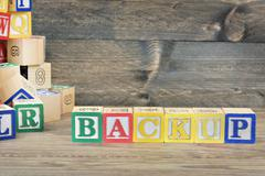 Backup word Stock Photos