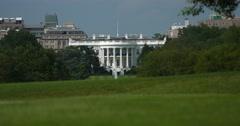 White House across Grass with 2 Tourist Washington DC Stock Footage