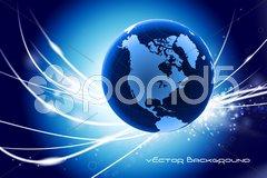 Globe on Abstract Modern Light Background Stock Illustration