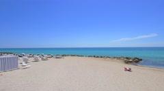 Beautiful day in Miami Beach Stock Footage