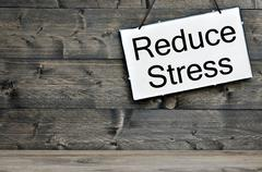 Reduce Stress on wooden table Stock Photos