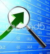 Focus on buying stock market background Stock Illustration