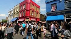 London, Portobello Market.. Stock Footage