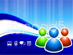 Global Communication internet background - stock illustration