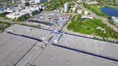 Aerial video of Miami Beach Convention Center Drive Stock Footage