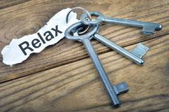 Key with message Relax Kuvituskuvat