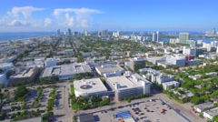 Miami Beach business district Stock Footage