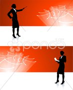Businesswoman corporate banner backgrounds Stock Illustration