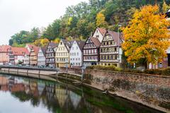 Autumn Calw city in Germany Stock Photos