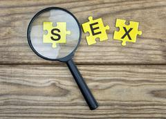 Puzzle with word Sex Stock Photos