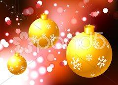 Christmas Ornament on holiday background Stock Illustration