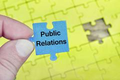 Puzzle with word Public Relations Stock Photos