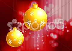 Christmas Ornament on holiday background Stock Illustration