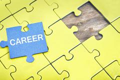 Puzzle with word Career Stock Photos