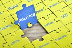 Puzzle with word Politics Stock Photos