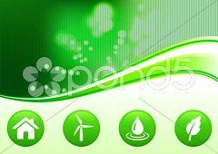 Green nature environmental background with internet buttons Stock Illustration
