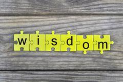Puzzle with word Wisdom Stock Photos