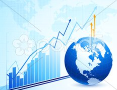 Global business and economy abstract background Stock Illustration